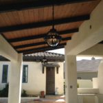 Spanish outdoor kitchen and fireplace pizza oven in bakersfield by Maranatha Landscape in Bakersfield