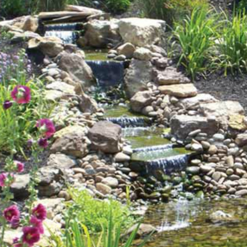 Water feature maranatha landscape for Landscaping rocks bakersfield ca